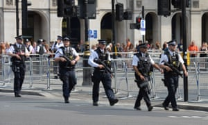 Police in Westminster. They survey found people want more security.
