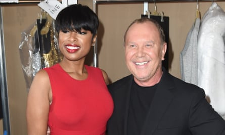 Singer Jennifer Hudson backstage with designer Michael Kors at the Fall 2016 runway show on Wednesday during New York fashion week.