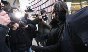 Fiona Onasanya arrives at the Old Bailey for sentencing.