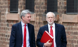 Richard Leonard (left) with Jeremy Corbyn in Glasgow earlier this month.