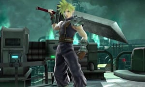 Cloud Strife in the new Midgar level.