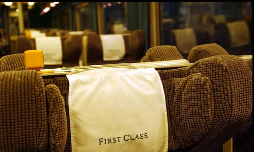Empty first class seats