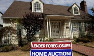 a foreclosure sign on a US home
