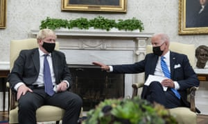 Boris Johnson and Joe Biden in the Oval Office of the White House on Tuesday.