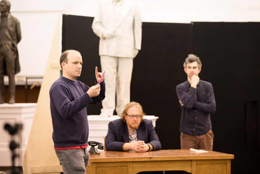 Kinnear (left) with Iain Paterson and Anthony Gregory in rehearsals for Wigglesworth's Winter's Tale at ENO.