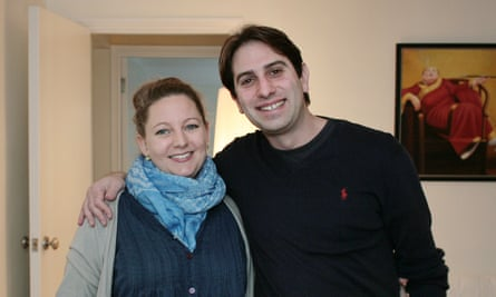 Rebecca Steinfeld and Charles Keidan, arm in arm and smiling