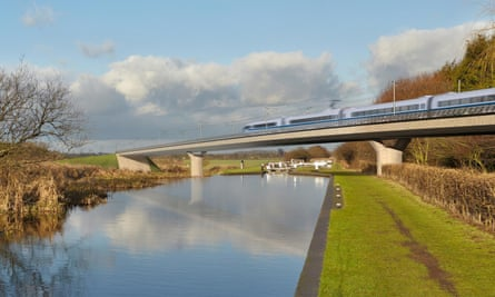 An image issued by HS2 of the Birmingham and Fazeley viaduct, part of the proposed route for the scheme.