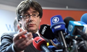 The deposed Catalan president, Carles Puigdemont.