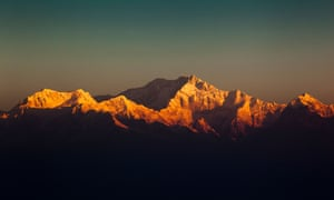 Kangchenjunga at dawn. Pictured from Tiger Hill, seven miles from Chatakpur.