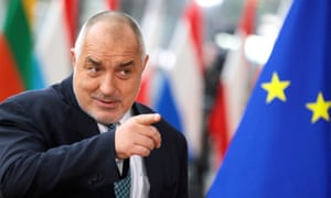 Bulgarian prime minister Boyko Borissov at a European Union leaders summit in February