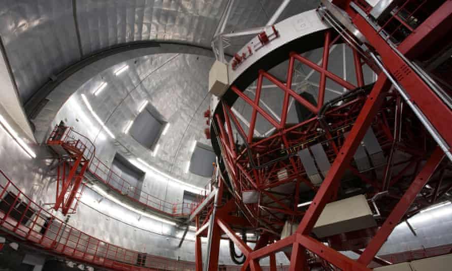 Inside the Gran Telescopio Canarias.