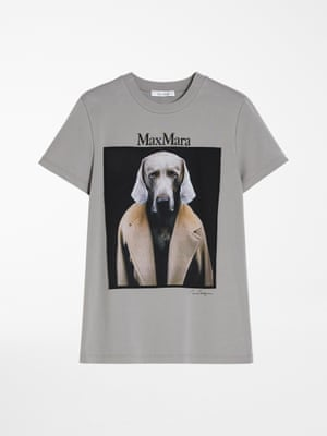 Canines and camels Maxmara is celebrating 70 years with a collection of seven T-shirts by seven artists. William Wegman's Weimaraner sporting one of the label's iconic camel coats is a highlight. £215, maxmara.com