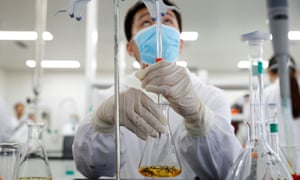 Testing for a vaccine in a laboratory in Beijing.