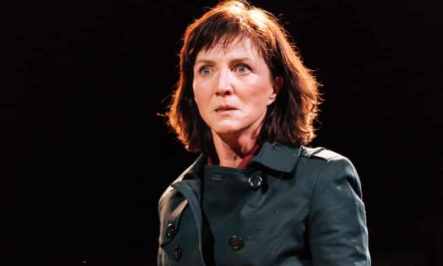 Michelle Fairley as Cassia in Julius Caesar at the Bridge theatre.