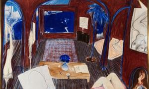 Brett Whiteley's painting Henri's Armchair