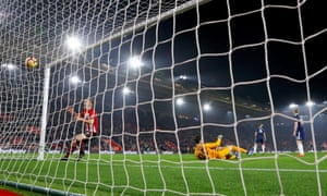 James Ward-Prowse celebrates scoring Southampton's second goal against Fulham at St Mary's Stadium on Wednesday night.