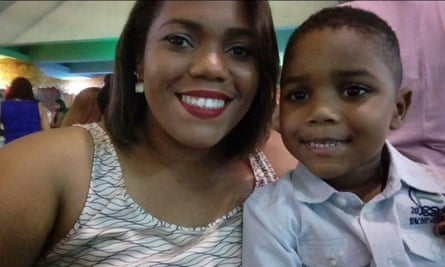 Miguel Otávio Santana da Silva with his mother Mirtes Santana,33, a domestic worker. Miguel plunged to his death from an apartment block in Recife, Brazil, after his mother's employer left the five-year-old unattended in June 2020.