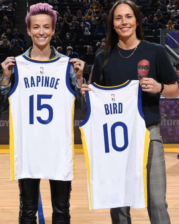 Sue Bird and partner Megan Rapinoe