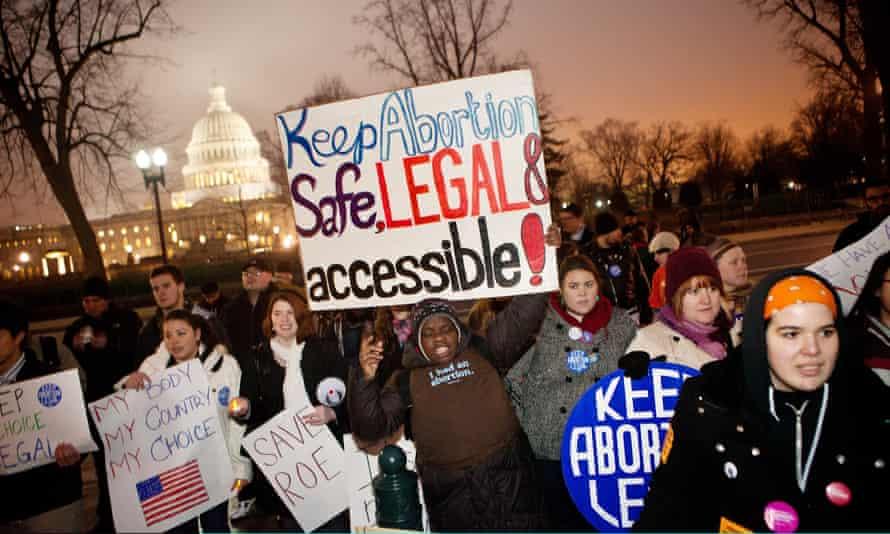 Pro-choice activists in Washington DC