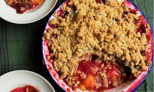 'We won't get into an argument if you bring out a jug of custard': spiced plum crumble.