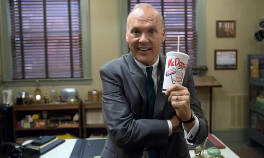 Michael Keaton as Ray Kroc in The Founder.