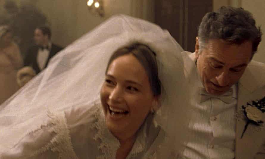 Sensational onscreen … Jennifer Lawrence with Robert De Niro.