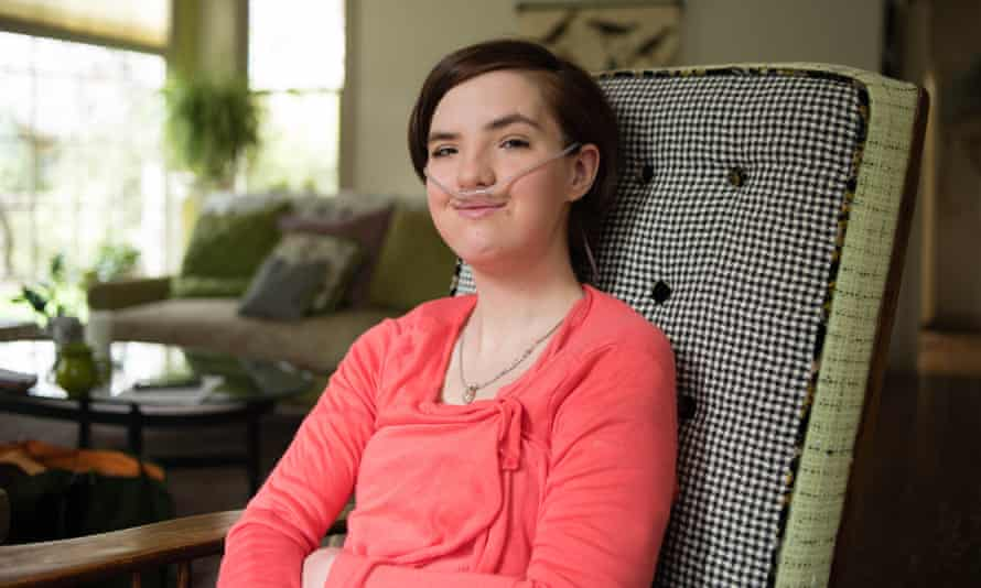Mariah Walton, who has pulmonary hypertension, at her home. 'I would like to see my parents prosecuted,' she says.