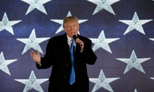 Trump addresses a pre-inaugural rally at the Lincoln Memorial.