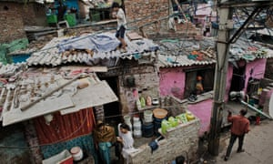 The Kathputli artists' and magicians' colony in New Delhi.