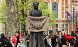Statue of suffragette Millicent Fawcett in Parliament Square, London