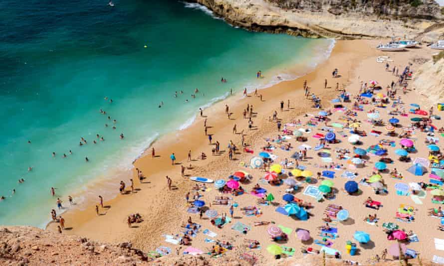 A beach in Benagil, Portugal
