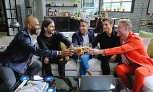 Karamo, Jonathan, Tan, Antoni and Bobby: cheers!