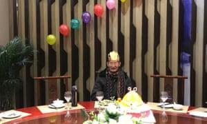 Lei Ruting celebrating his 90th birthday.