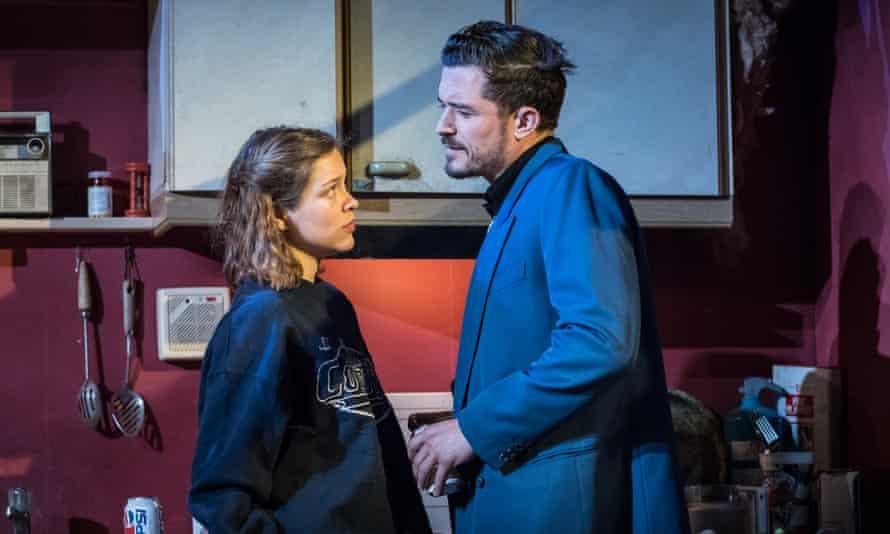Sophie Cookson (Dottie Smith) and Orlando Bloom (Joe Cooper) in Killer Joe