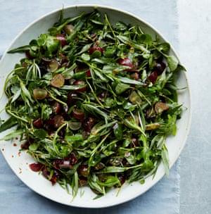 Anna Jones's grape and tarragon salad.