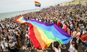 Flags at Brighton Pride 2019