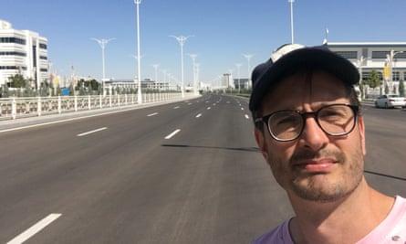 'Walking around Ashgabat, blinded by an ocean of marble, I felt terribly alone' ... David Farrier in Ashgabat.