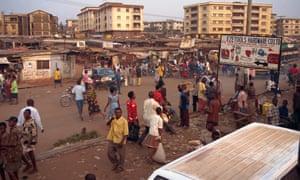 A street in Onitsha, Nigeria.