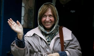 Svetlana Alexievich in Belarus after winning the 2015 Nobel prize in literature.