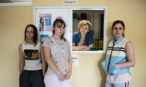 BBC1's new drama Three Girls tells the story of the Rochdale grooming case: (from left) Molly Windsor as Holly, Liv Hill as Ruby, Maxine Peake as Sara Rowbotham and Ria Zmitrowicz as Amber