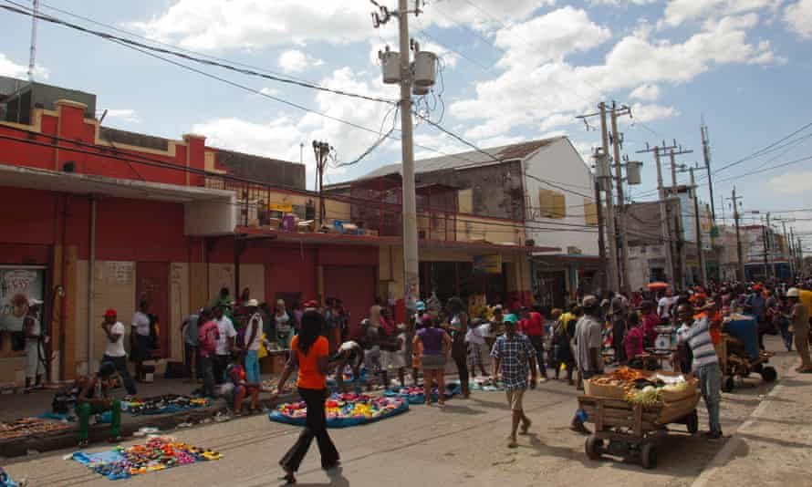 Downtown Kingston … Ross moved to Jamaica when she was six.