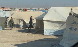 Al-Hawl refugee camp photographed in September