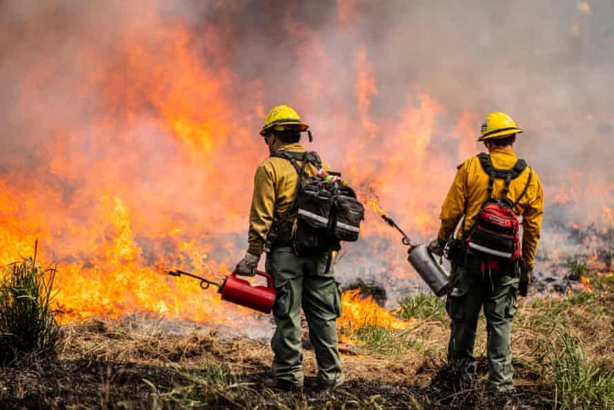 Volunteer firefighters in Washington state.