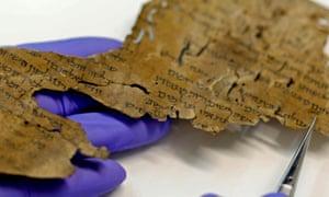 A parchment detail