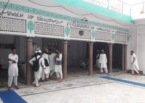 Boys at the Jame-Ul-Uloom Furqania madrasa in Uttar Pradesh