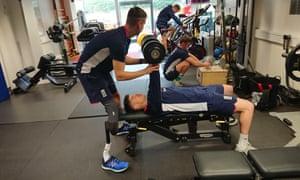 Liam Thomas and Liam O'Brien at England disability cricket training, Loughborough