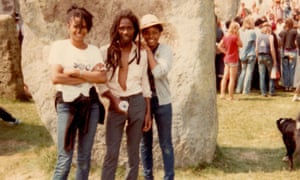 Dawn Hayles (left) with her father, Dutty Ken, at Stonehenge in the early 80s.