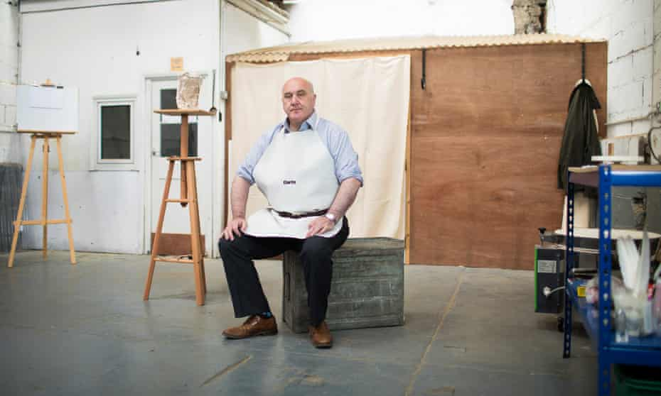 Art forger Shaun Greenhalgh in his new studio