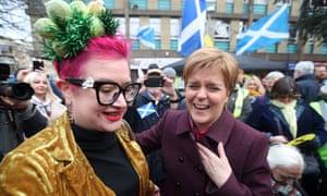 Nicola Sturgeon meet supporters in Dalkeith today.