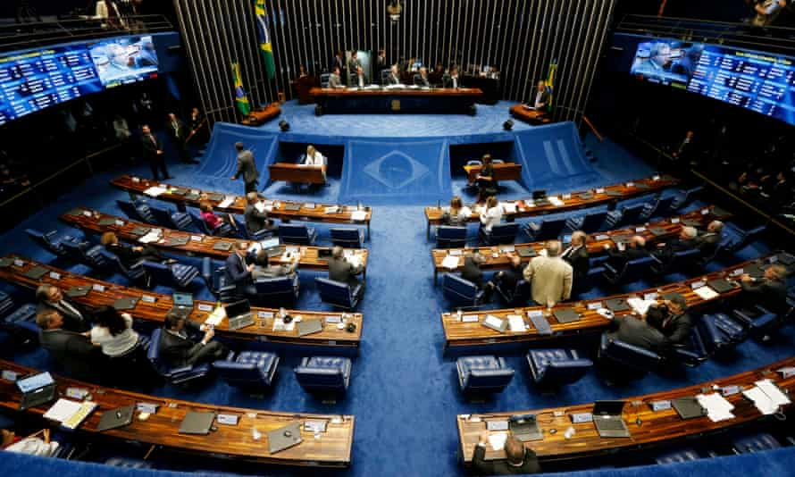 Lawmakers gathered for the special session on 11 May to vote on whether to accept impeachment charges.